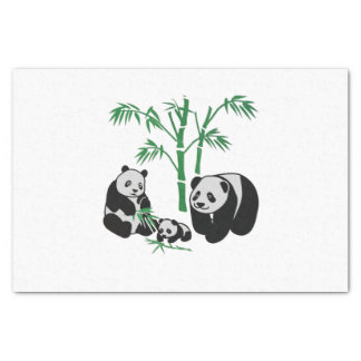 Panda Bear Family Tissue Paper