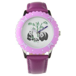 Panda Bear Family Wrist Watch