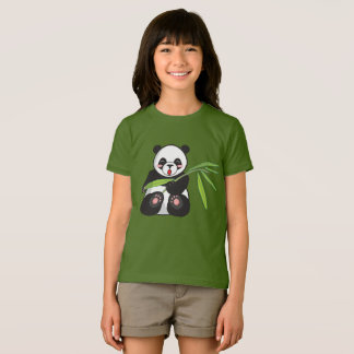 Panda Bear Girls' American Apparel Jersey T-Shirt