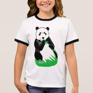 Panda Bear Girls' Ringer T-Shirt