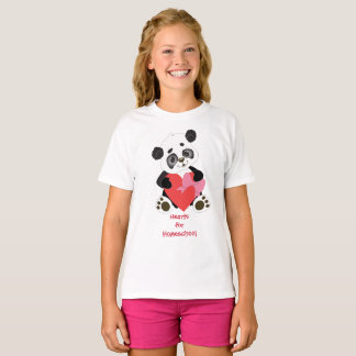 Panda Bear Hearts for Homeschool T-Shirt