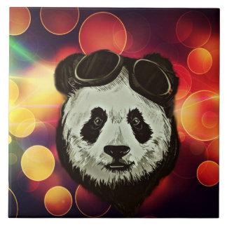 Panda Bear Hipster Style Ceramic Tiles