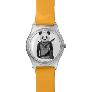 Panda Bear Holding Thor's Viking Hammer Wrist Watch