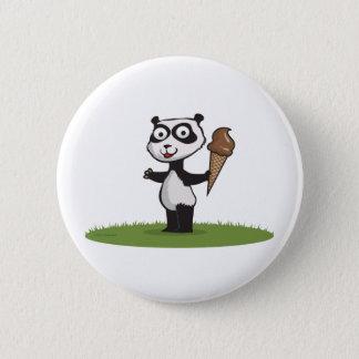 Panda Bear Ice Cream 2 Inch Round Button