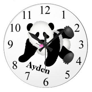 Panda Bear Large Clock