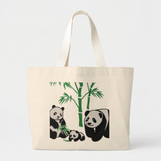 Panda Bear Large Tote Bag