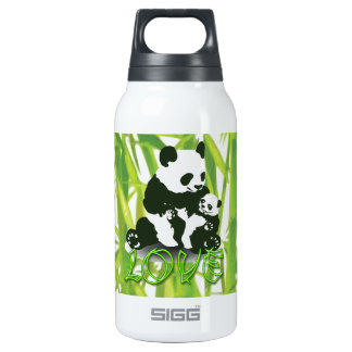 Panda Bear Love for her Baby Insulated Water Bottle