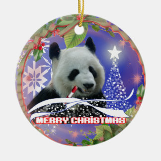 PANDA BEAR LOVERS CHRISTMAS TREE ORNAMENT