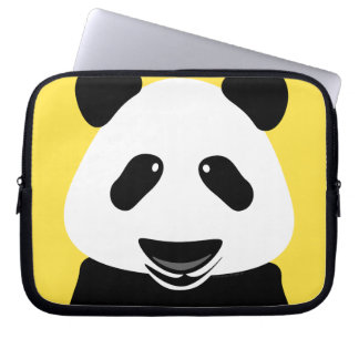 Panda Bear Modern Laptop Sleeve