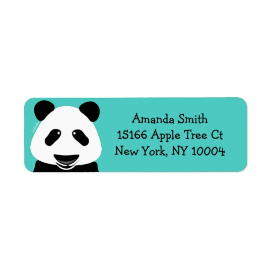 Panda Bear Modern Teal