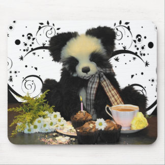 Panda Bear Mousepad Mousemat, With Tea And Cakes