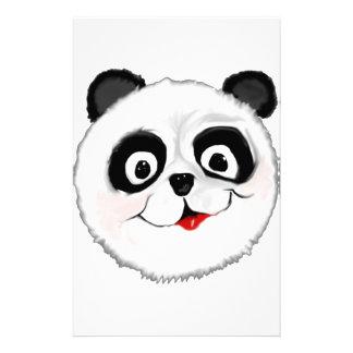 PANDA BEAR ORIGINAL ART PERSONALIZED STATIONERY