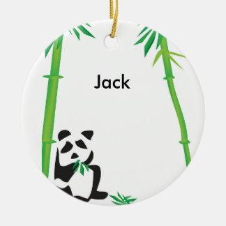 Panda Bear ornament! Ceramic Ornament