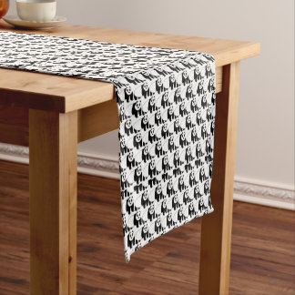 Panda Bear Overload Pattern Table Runner