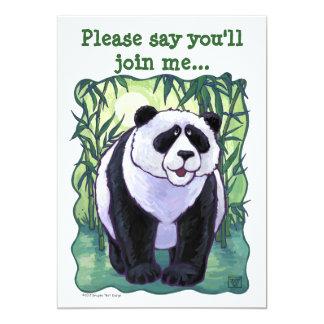 Panda Bear Party Centre Card