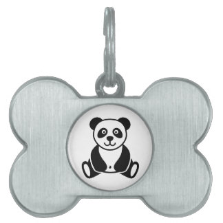 Panda bear pet tag