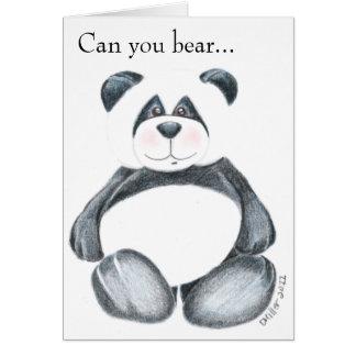 Panda Bear Picture Card