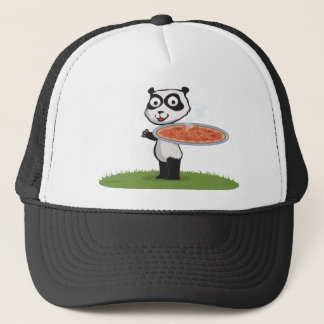 Panda Bear Pizza Trucker Hat