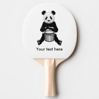 Panda Bear Playing The Drums Ping Pong Paddle