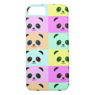 Panda Bear Pop Art Yellow Pink Blue iPhone 8/7 Case