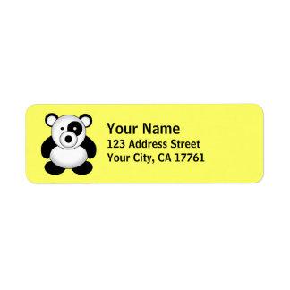 Panda Bear Return Address Labels