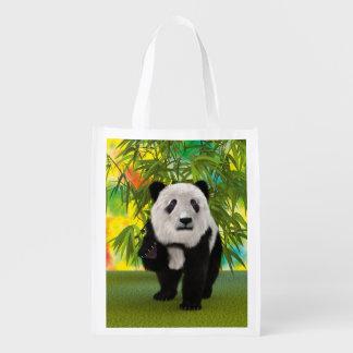 Panda Bear Reusable Grocery Bag