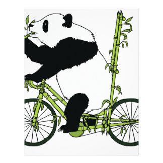 Panda Bear Riding Bamboo Bike Letterhead