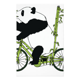 Panda Bear Riding Bamboo Bike Stationery