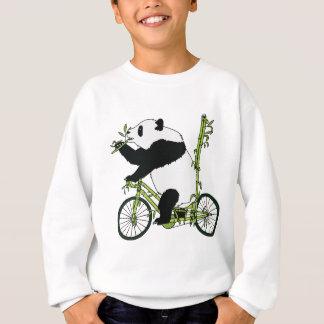 Panda Bear Riding Bamboo Bike Sweatshirt