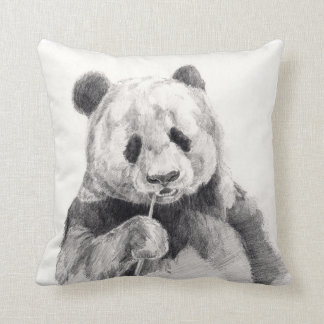 Panda Bear Sketch Pillow