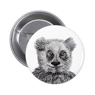 Panda Bear Smile Standard, 2¼ Inch Round Button