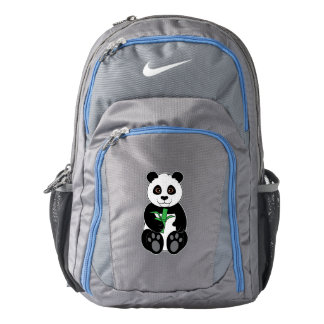 Panda Bear Snacking on Bamboo Backpack