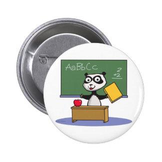Panda Bear Teacher Pinback Buttons