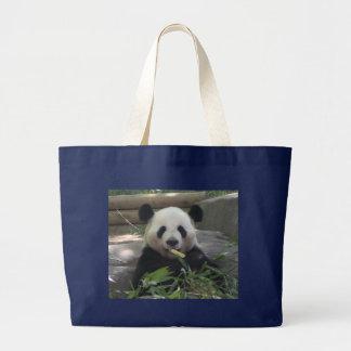 Panda Bear Tote Bag in Black