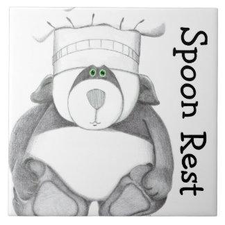Panda Bear Trivet Spoon Rest Tiles