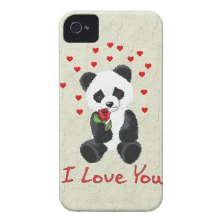 Panda Bear Valentine iPhone 4 Covers