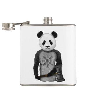 Panda Bear Viking Hip Flask