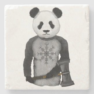 Panda Bear Viking Stone Coaster