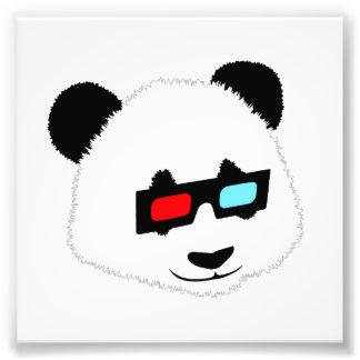 Panda Bear with 3D Glasses Photo