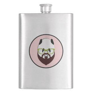 Panda Bear with a Beard Flasks