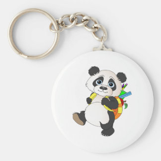 Panda Bear with backpack Keychain