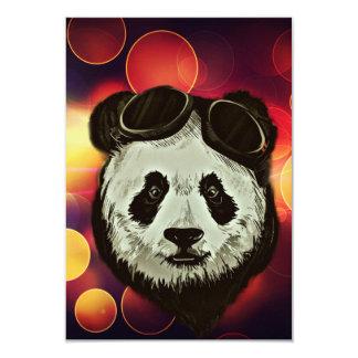"""Panda Bear with Bokeh Art 3.5"""" X 5"""" Invitation Card"""