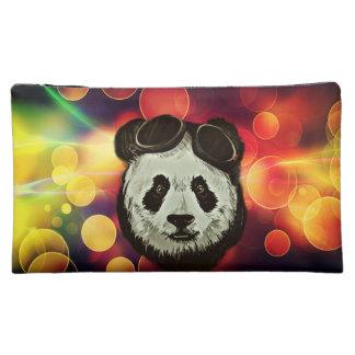 Panda Bear with Bokeh Art Makeup Bag