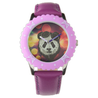 Panda Bear with Bokeh Art Wrist Watch