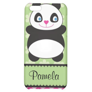 Panda Bear With Flower Pattern Speck Case Cover For iPhone 5C