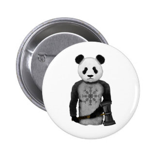 Panda Bear With Thor's Hammer 2 Inch Round Button