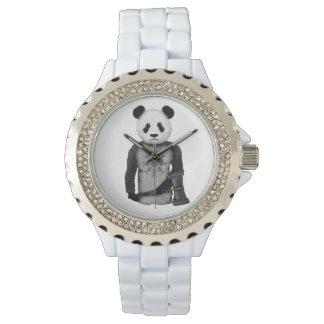 Panda Bear With Viking Hammer Watch