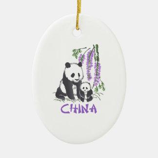 Panda Bears China Ceramic Ornament