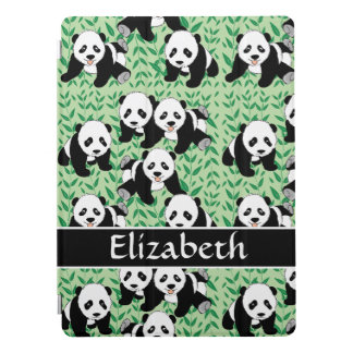Panda Bears Graphic Design Personalize iPad Pro Cover