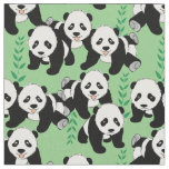 Panda Bears Graphic Fabric